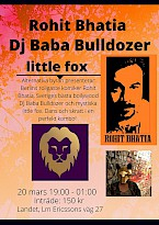 Rohit Bhatia, DJ Baba Bulldozer & little fox